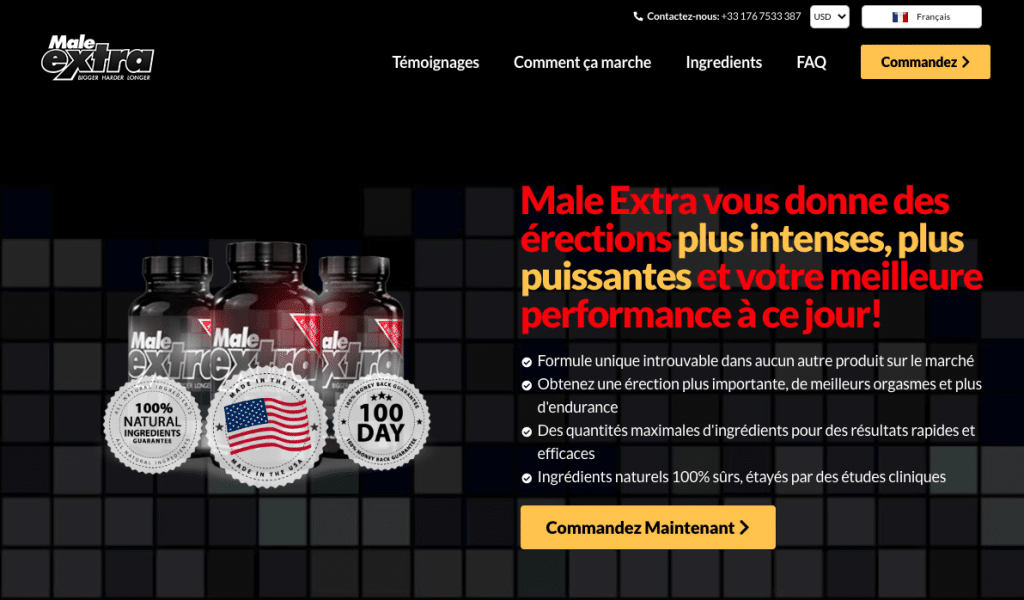 Site officiel de la marque Male Extra